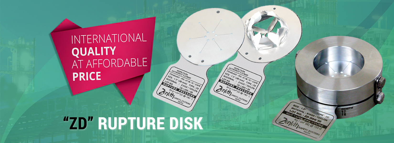 Zenith Rupture Disk Manufacturer